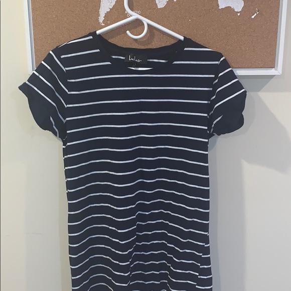 Lulu's Dresses & Skirts - LuLu's Striped Navy T-shirt Dress